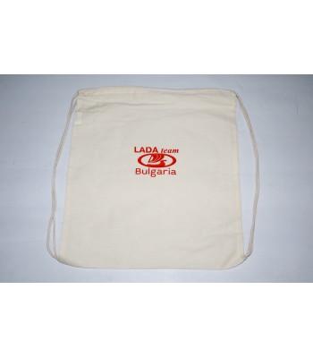 Брандирана спортна торба тип мешка LADA team