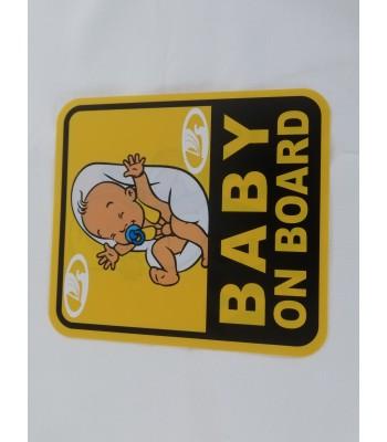 Baby on board брандиран надпис с лого от вътрешната страна