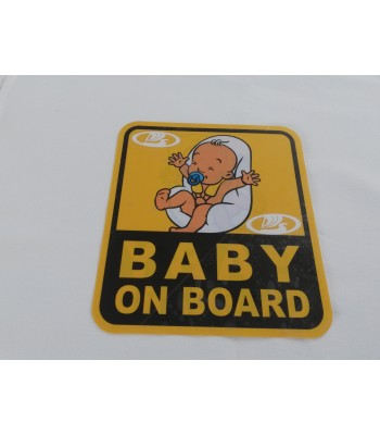 Baby on board брандиран надпис с лого от външната страна